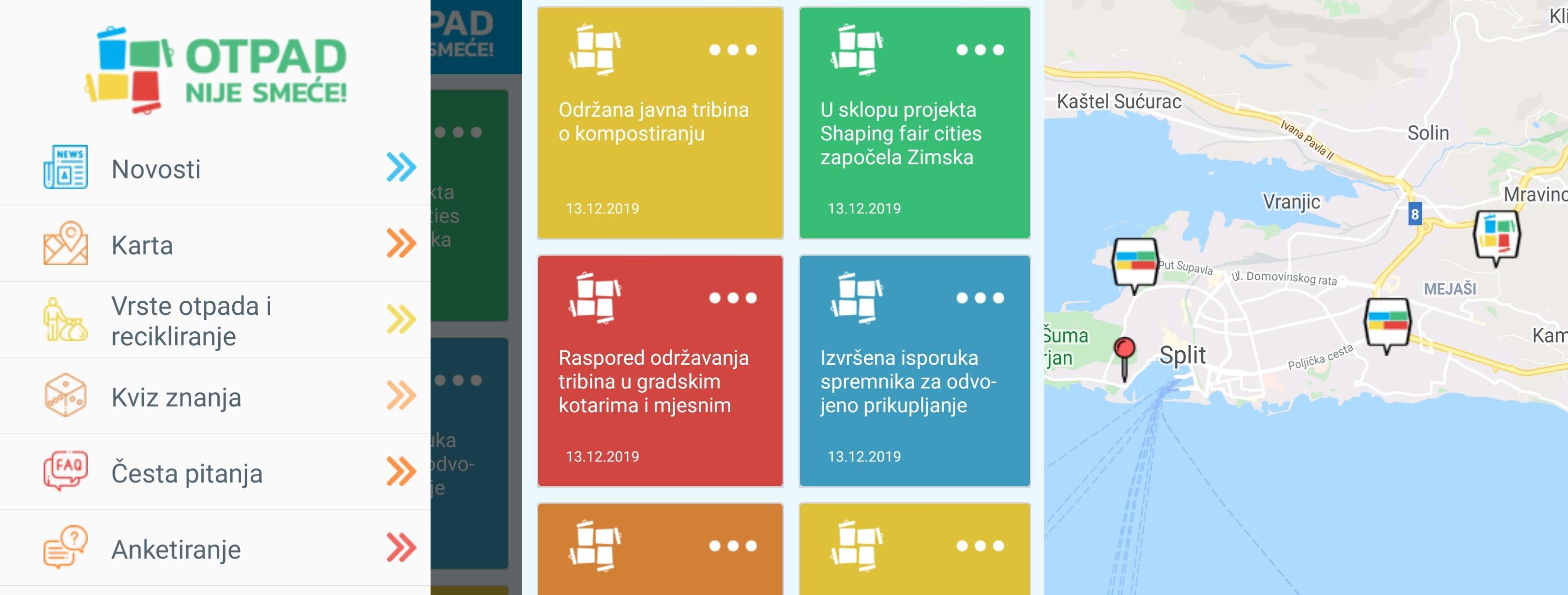 Izrađena aplikacija u sklopu projekta Otpad nije smeće!