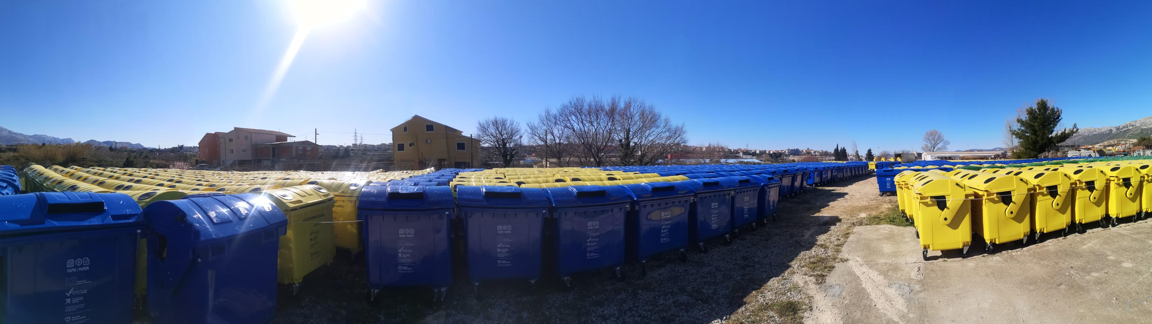 Izvršena isporuka spremnika za odvojeno prikupljanje otpada – Grupa 2